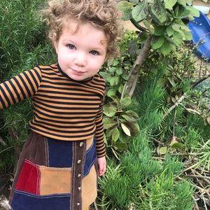 Uniqlo Stripe super soft toddler shirt 2T EUC